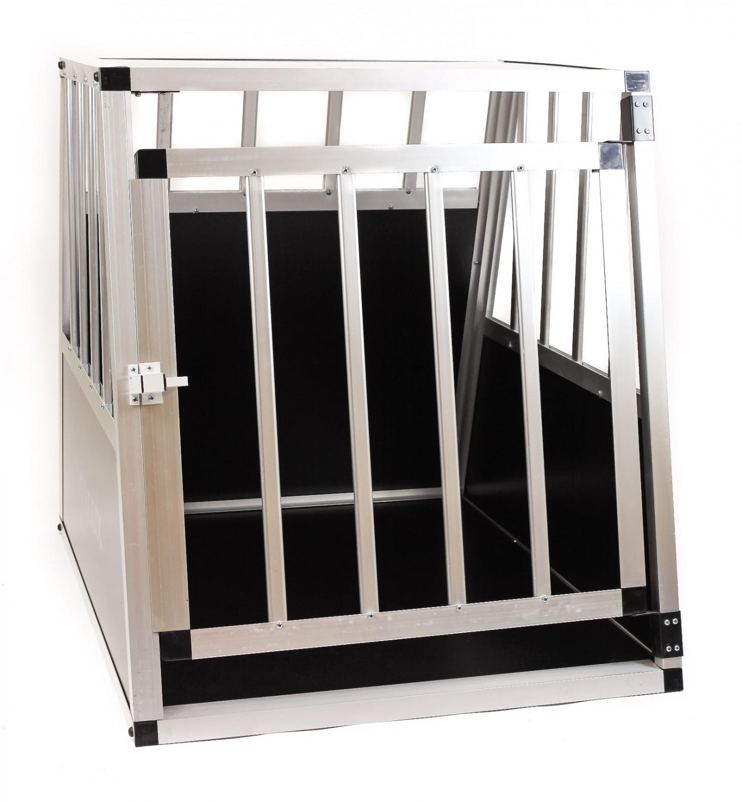 hundetransportbox 68x72x60cm hundebox alu hunde schwarz. Black Bedroom Furniture Sets. Home Design Ideas