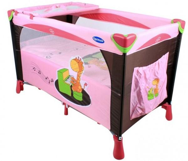 reisebett kinderbett kinderreisebett rosa qeridoo ebay. Black Bedroom Furniture Sets. Home Design Ideas