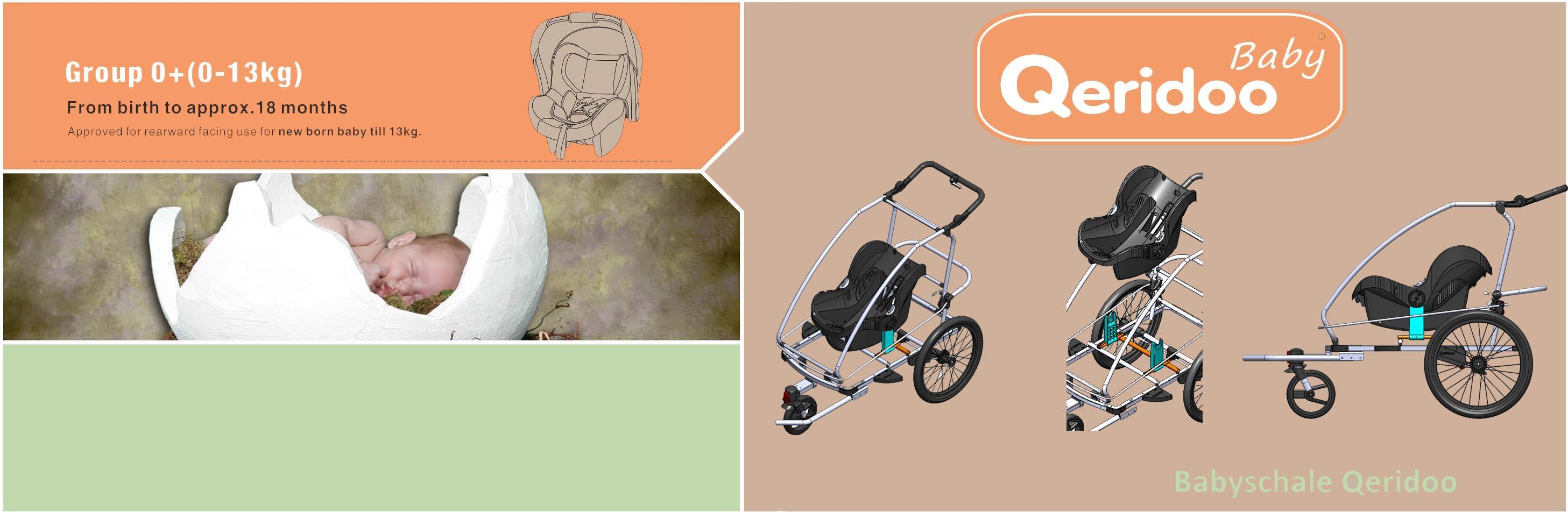Qeridoo Babyschale Für Pkw Und Fahrradanhänger